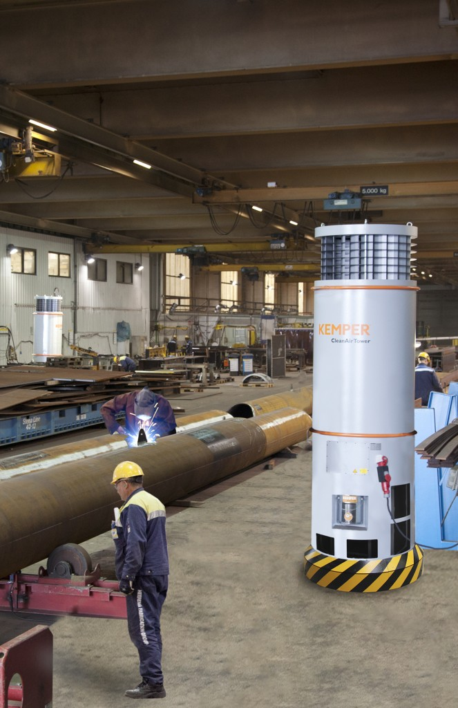 Das Raumlüftungssystem CleanAirTower von KEMPER ist bei Heerema, Niederlande, im Einsatz.
