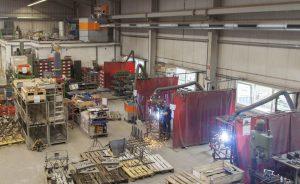 Fördermittel für Absaugtechnik für eine neue Hallenlüftung bei der Firma Tenwinkel